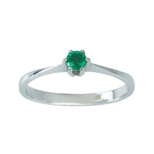 SILVER RING WITH EMERALD - JEWELLERY SALE