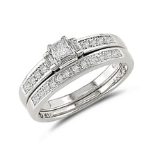 Engagement and wedding ring with diamonds - Jewellery by Klenota