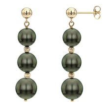 TAHITIAN PEARL EARRINGS - TAHITIAN PEARLS - PEARLS