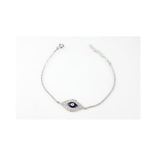 Sterling silver bracelet with CZ stones for happiness - Jewellery Sale