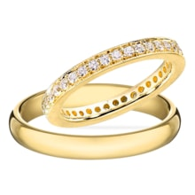 GOLD WEDDING RINGS WITH DIAMONDS - DIAMOND WEDDING RINGS - WEDDING RINGS WITH GEMSTONES