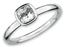 SILVER RING WITH ZIRCON - JEWELLERY SALE