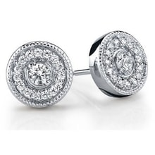 EARRINGS WITH DIAMONDS - DIAMOND EARRINGS - EARRINGS