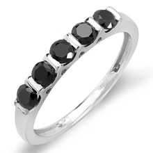 ANNIVERSARY WEDDING RING WITH BLACK DIAMONDS - JEWELLERY BY GEMSTONE