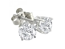 DIAMOND EARRINGS 0.80 KT - STUD EARRINGS - EARRINGS