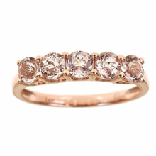 GOLD RING WITH DIAMONDS AND MORGANITE - JEWELLERY BY GEMSTONE