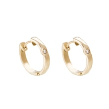 Diamond earrings in 14kt solid gold - Diamond Earrings