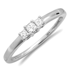 ENGAGEMENT RING IN WHITE GOLD WITH DIAMONDS - ENGAGEMENT RINGS WITH GEMSTONES