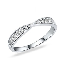 Sterling silver ring with diamonds - Rings for Her