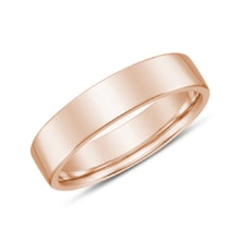 Men's wedding ring in 14kt rose gold - Rings for Him
