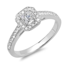 DIAMOND ENGAGEMENT RING IN WHITE GOLD - LUXURY JEWELLERY - JEWELLERY BY GEMSTONE
