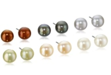 Set of six pairs of pearl studs - Jewellery Sale