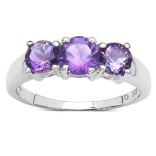 SILVER RING WITH AMETHYST - STERLING SILVER RINGS - RINGS