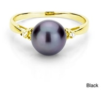 Gold plated pearl ring - Pearl rings