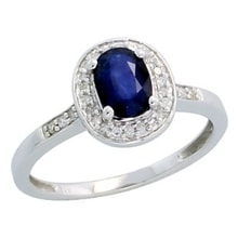 GOLDEN RING WITH SAPPHIRES 0.77 KT - SAPPHIRE RINGS - RINGS