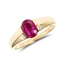 Golden ring with ruby - Ruby rings