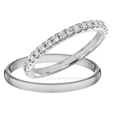 WEDDING RINGS IN WHITE GOLD WITH DIAMONDS - DIAMOND WEDDING RINGS - WEDDING RINGS WITH GEMSTONES