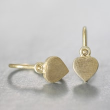GOLD EARRINGS HEARTS FOR CHILDREN - JEWELLERY BY KLENOTA
