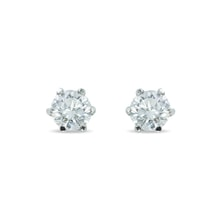 White gold diamond stud earrings - Stud earrings