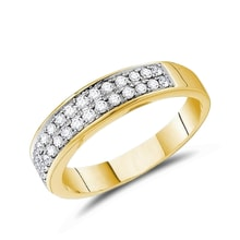 Men's diamond ring in 14kt gold - Men's Rings