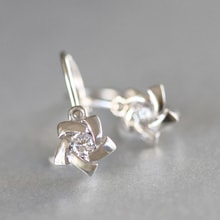 CHILDREN EARRINGS IN WHITE GOLD WITH DIAMONDS - WHITE GOLD EARRINGS - EARRINGS