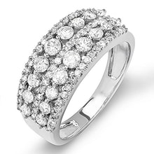 RING MADE OF WHITE GOLD WITH DIAMONDS - DIAMOND RINGS - RINGS