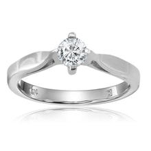 WHITE GOLD DIAMOND RING - DIAMOND RINGS - RINGS