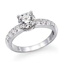 ENGAGEMENT RING IN WHITE GOLD WITH DIAMOND - DIAMOND ENGAGEMENT RINGS - ENGAGEMENT RINGS WITH GEMSTONES