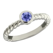 RING MADE OF WHITE GOLD WITH TANZANITE - WHITE GOLD JEWELLERY - JEWELLERY BY GEMSTONE