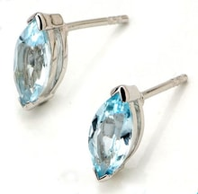 Topaz earrings in silver - Fine Jewellery