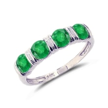 Emerald ring in white gold - Emerald rings