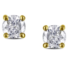 ELEGANT DIAMOND EARRINGS 0.25 KT - GOLD EARRINGS - EARRINGS