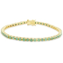 EMERALD BRACELET OF SILVER GILT - TENNIS BRACELETS - JEWELLERY BY GEMSTONE