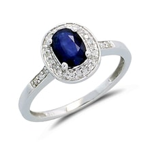 GOLDEN RING WITH SAPPHIRES 0.77CT - SAPPHIRE RINGS - RINGS