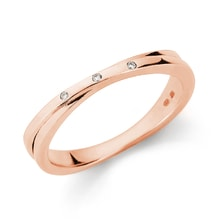 Gold plated ring with diamonds - Rings for Her