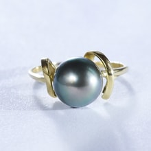 RING WITH TAHITIAN PEARLS - PEARL RINGS - PEARLS