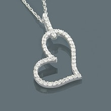 Diamond Heart - Heart Pendants