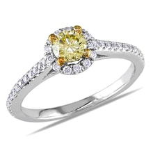 DIAMOND ENGAGEMENT RING - ENGAGEMENT RINGS WITH COLOURED DIAMANTÉ - ENGAGEMENT RINGS WITH GEMSTONES
