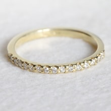 DIAMOND RING IN YELLOW GOLD - GOLD RINGS - RINGS