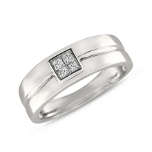MEN'S WEDDING RING WITH DIAMONDS - MEN RINGS - RINGS