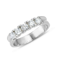 Gold ring with five diamonds - Diamond Rings