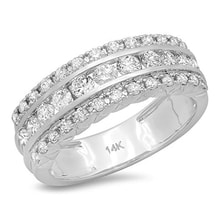 ANNUAL RING MADE OF WHITE GOLD WITH DIAMONDS - WHITE GOLD RINGS - RINGS