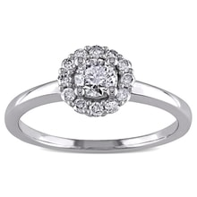 ENGAGEMENT DIAMOND RING - WHITE GOLD RINGS - RINGS
