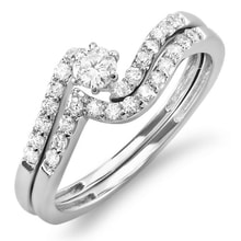 DIAMOND SET ENGAGEMENT AND WEDDING RINGS - JEWELLERY BY GEMSTONE