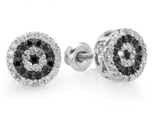 DIAMOND STUDS EARRINGS IN WHITE GOLD - STUD EARRINGS - EARRINGS