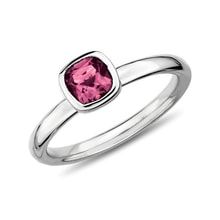 Sterling silver ring with pink tourmaline - Tourmaline Rings