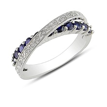 RING WITH SAPPHIRES AND DIAMONDS - JEWELLERY SALE