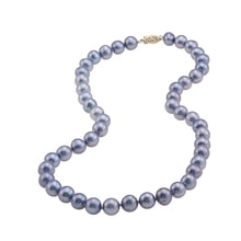 BLUE FRESHWATER PEARL NECKLACE - PEARL NECKLACE - PEARLS