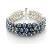 Three colored pearl bracelet - Pearl Bracelets