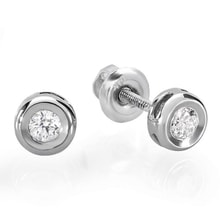 WHITE GOLD DIAMOND EARRINGS STUDS - STUD EARRINGS - EARRINGS